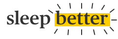 Logo for eve sleep's blog that says 'sleep better' with yellow highlights